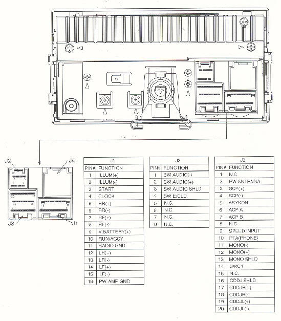 car audio wire diagram codes ford - factory car stereo repair,Wiring diagram,Wiring Diagram Car Radio Yw7F 18C815 Ca