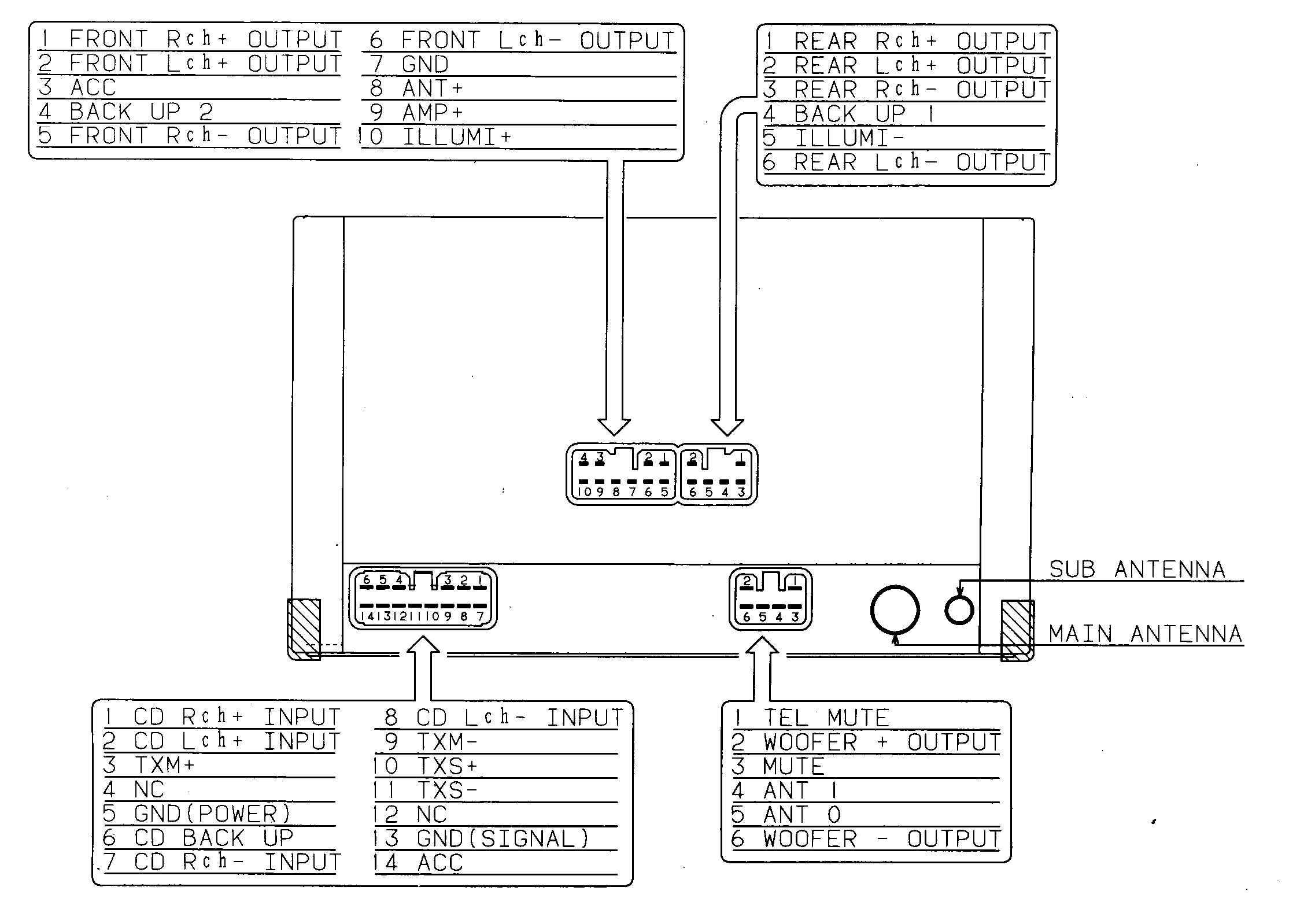 WireHarnessLexus121001 car audio wire diagram codes lexus factory car stereo repair dock wiring diagram at bakdesigns.co