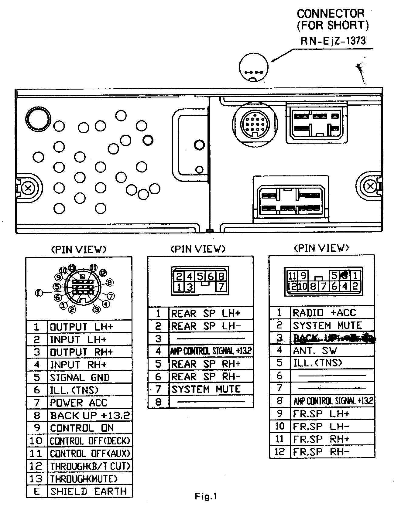Wireharness Mazda1 on pioneer radio wiring diagram