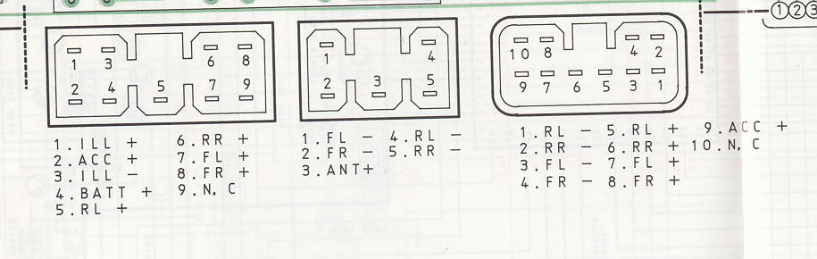 Car Stereo Repair - Wire Harness Codes and Diagrams - Bose Car Stereo, Speaker, Amplifier Repair