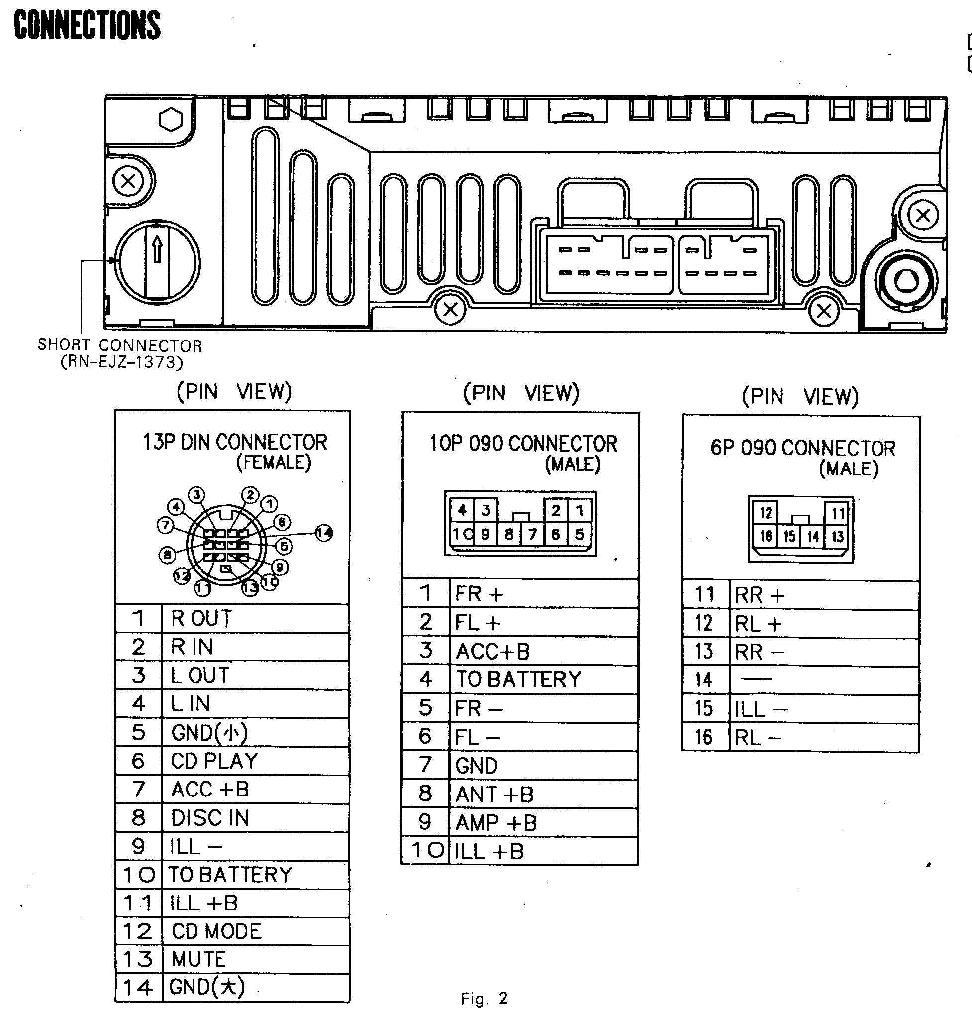 WireHarnessToy121003 car audio wire diagram codes toyota factory car stereo repair dock wiring diagram at bakdesigns.co