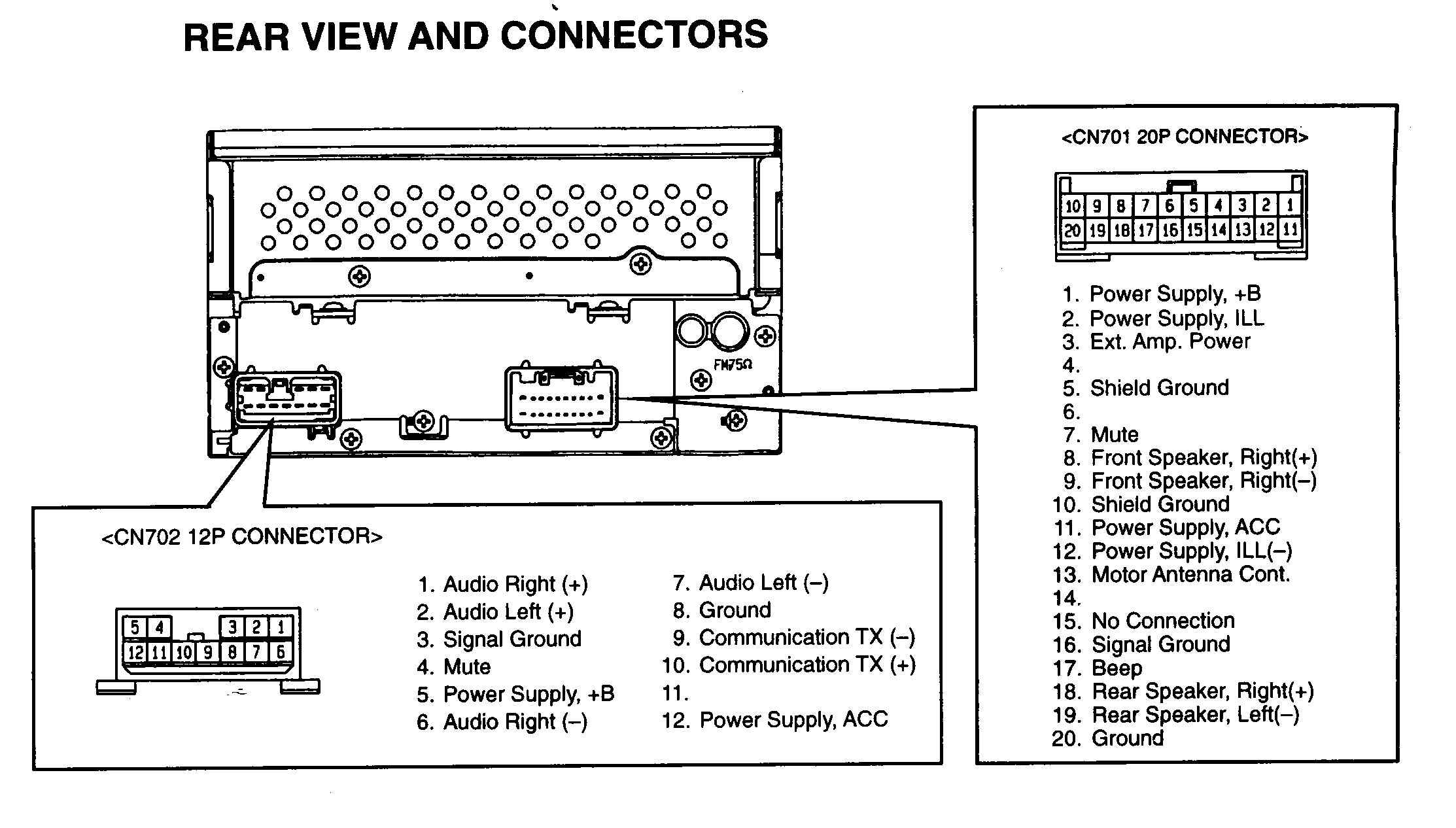 suzuki radio wiring diagram wiring diagram table Suzuki Electrical Schematics