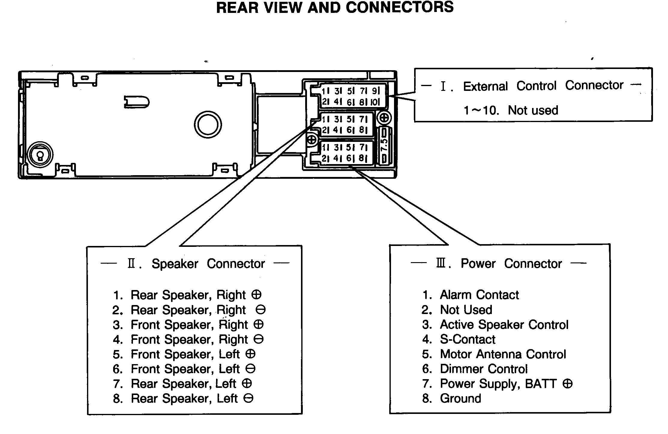 WireHarnessVW121401 wiring a car radio diagram pioneer car radio wiring diagram Pioneer Deh P77DH Wiring Harness at crackthecode.co